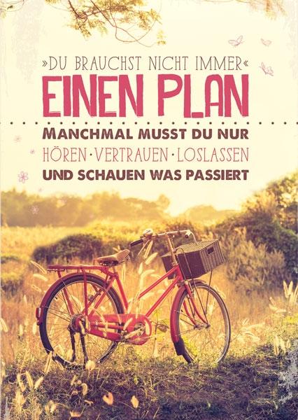 Postkarte - Einen Plan