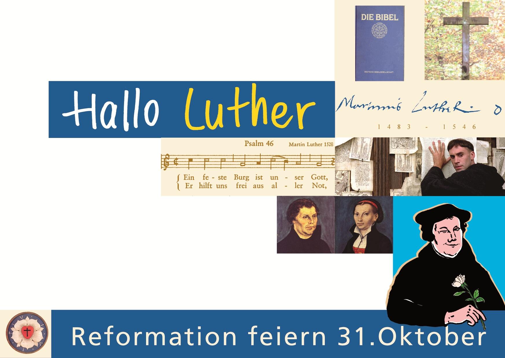 "Postkarte ""Hallo Luther"""