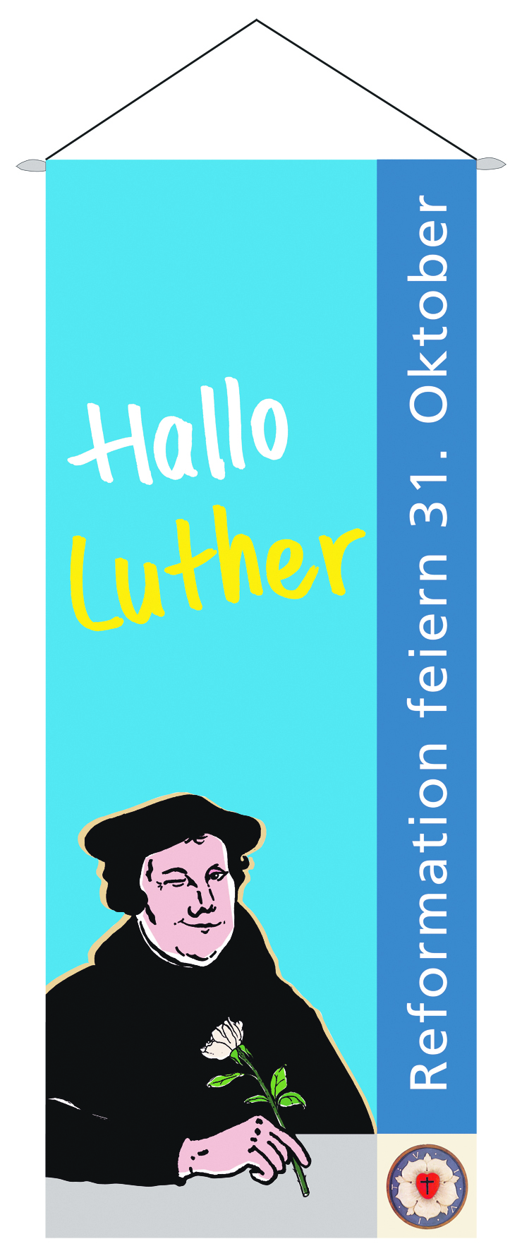 "Fahne ""Hallo Luther"""