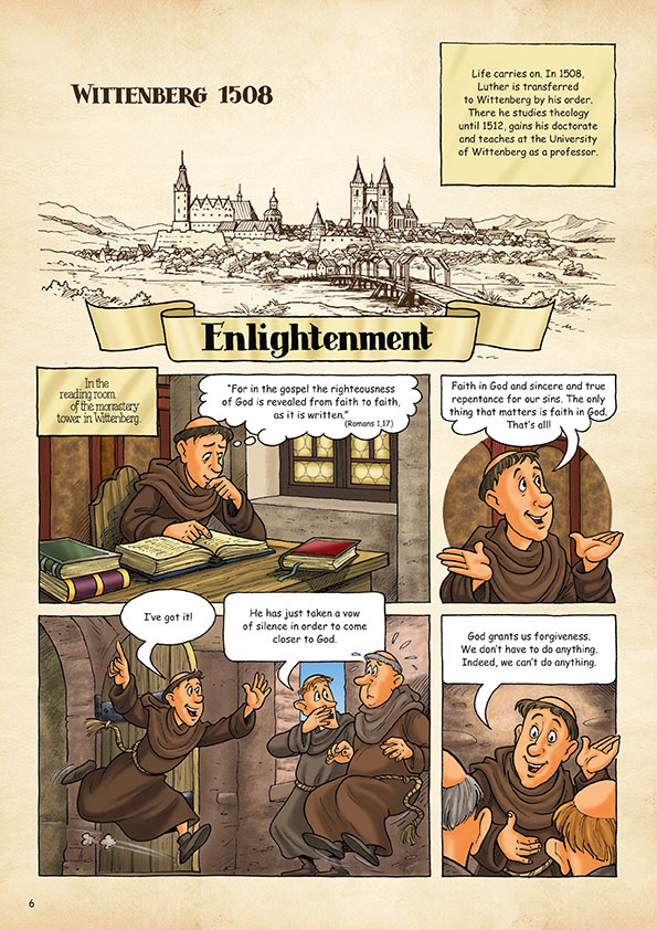"""Comic """"Martin Luther  - A monk changes the world"""""""