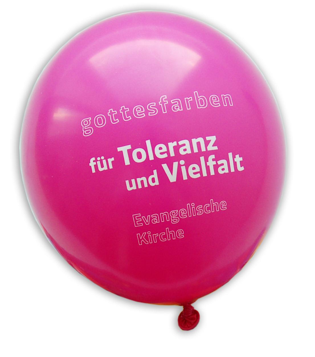 """Luftballons """"Toleranz und Vielfalt"""" 100er"""
