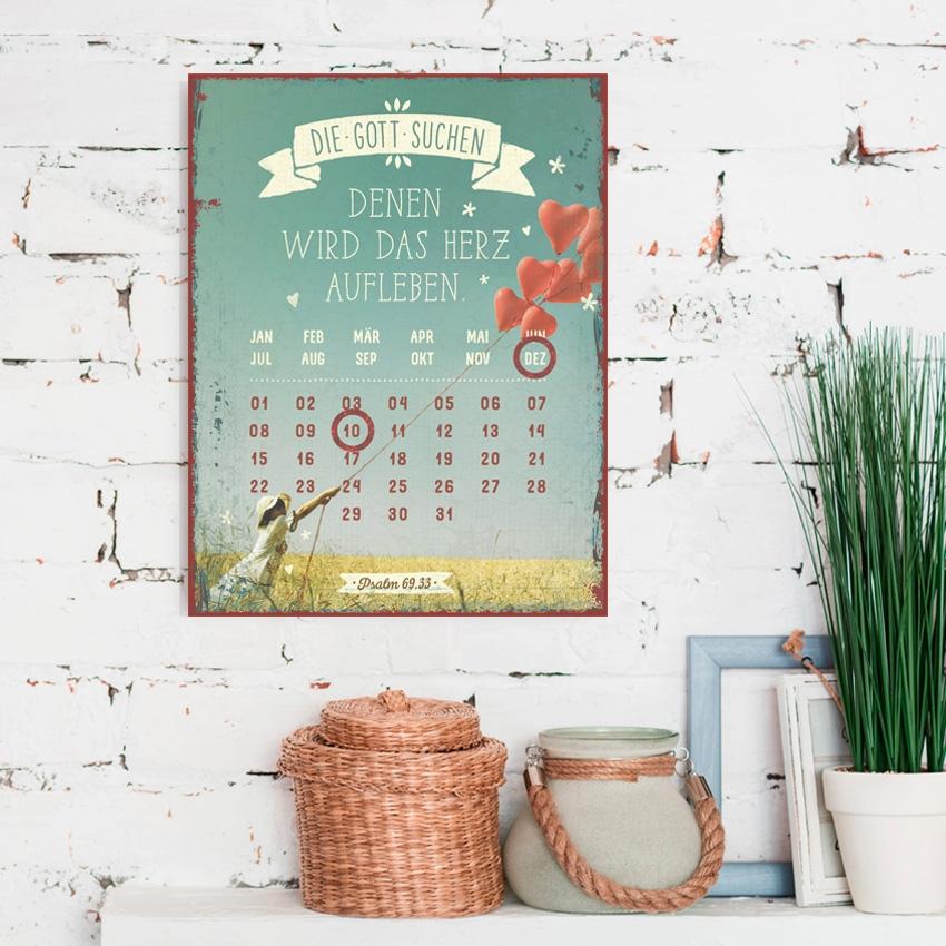Magnetkalender - Die Gott suchen