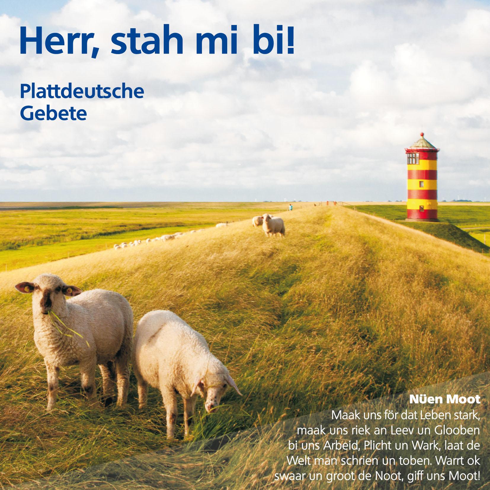 "Gebetsfaltkarte Plattdeutsche Gebete ""Herr, stah mi bi!"""