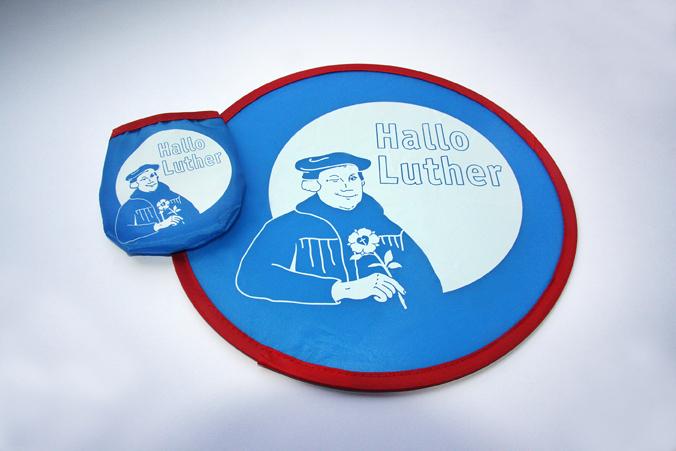 """Nylon-Frisbeescheibe """"Hallo Luther"""""""