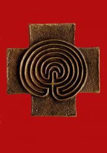 """Gottesdienst-Bausteine """"Labyrinth-Kreuz"""""""