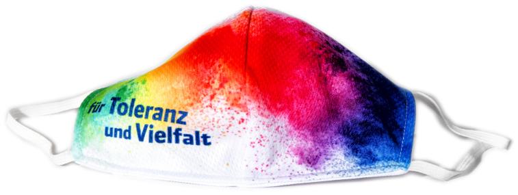 """Mund-/Nasenschutz """"für Toleranz und Vielfalt"""""""