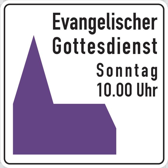 Hinweisschild Gottesdienst