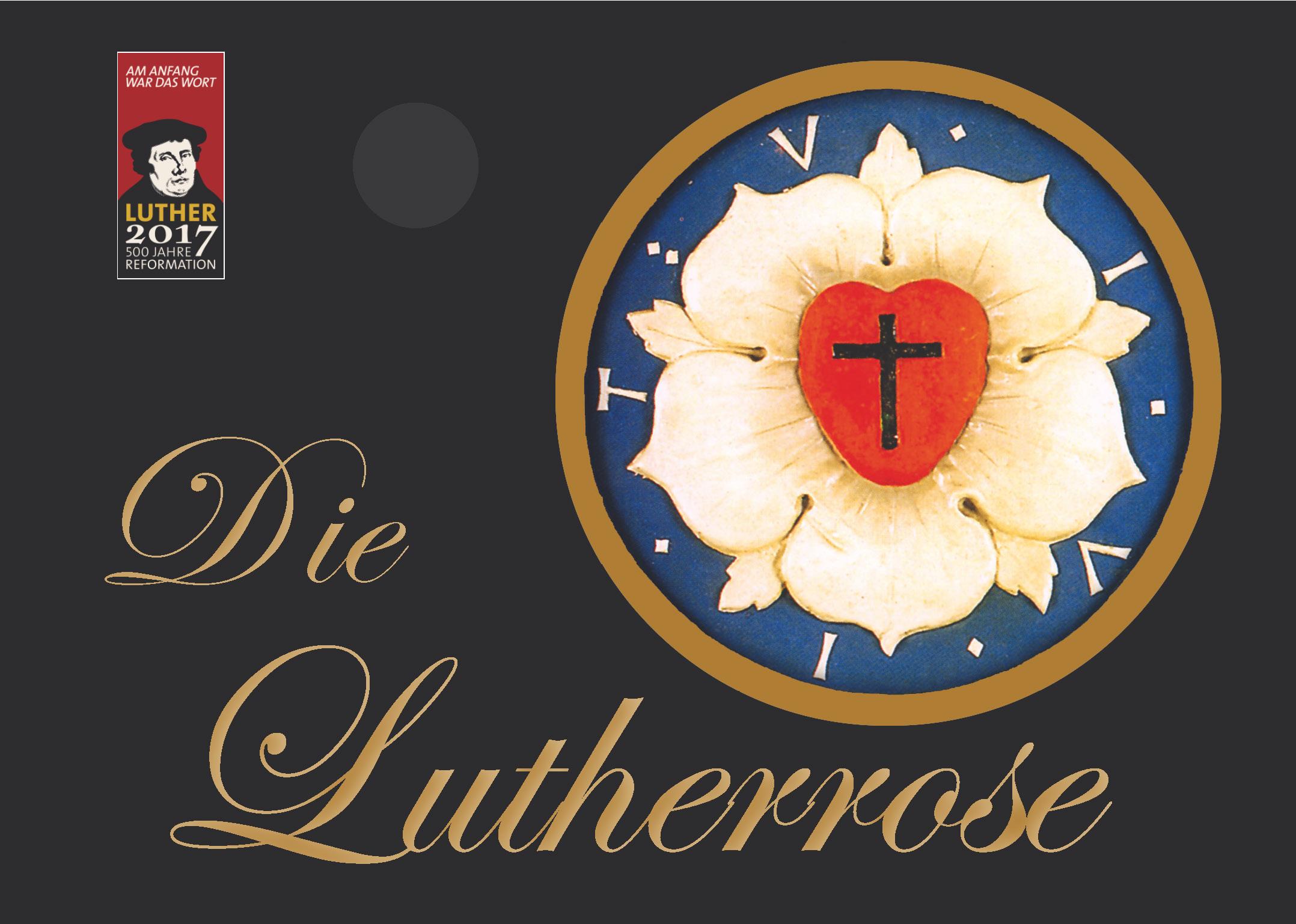 Postkarte - Lutherrose