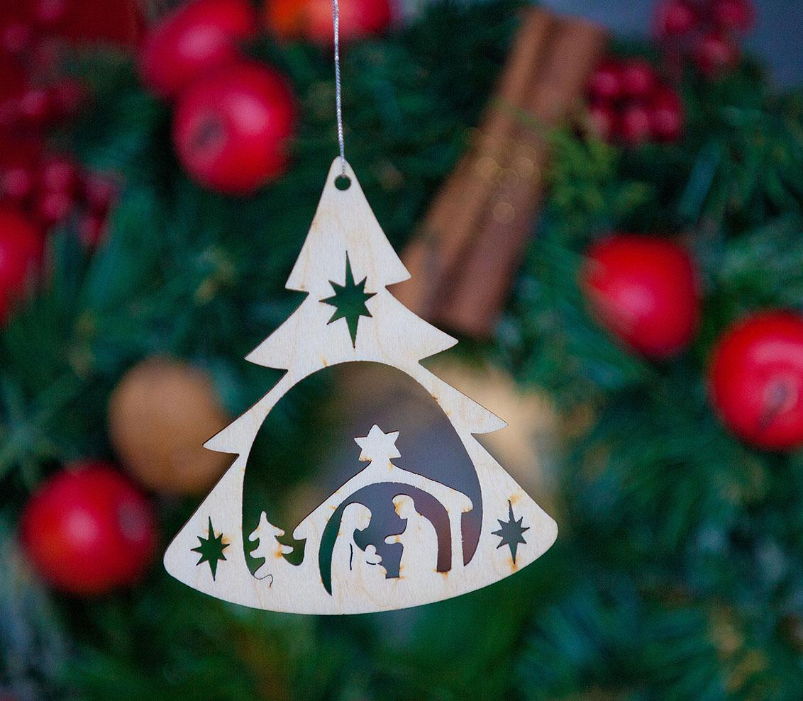 Weihnachtsbaumanhänger Krippe