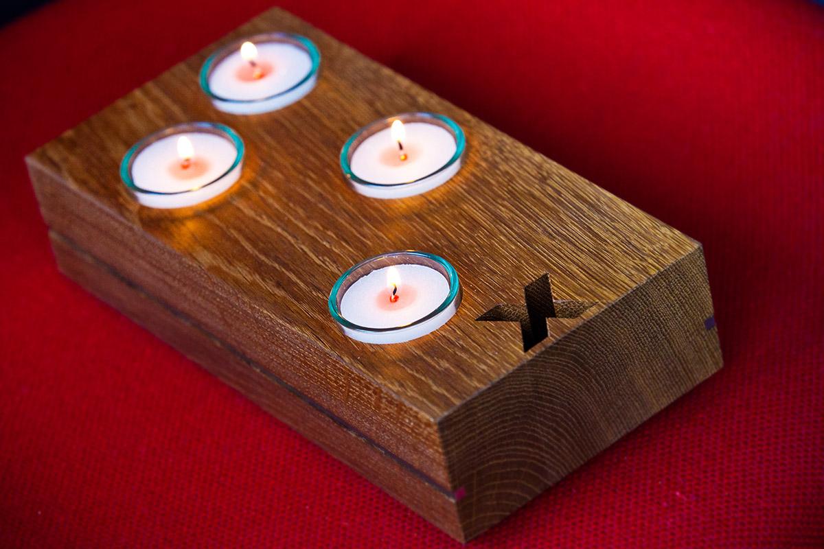 Holz-Adventskranz