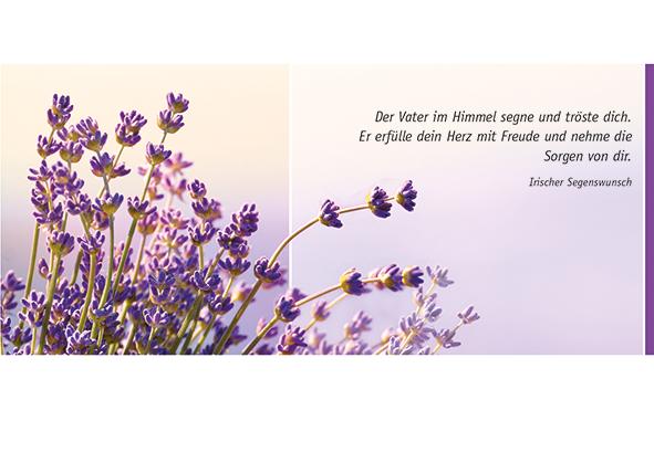 Postkarte Augenblicke der Besinnung – Gruß Lavendel