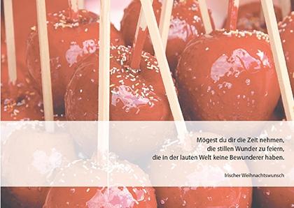 Postkarte Augenblicke der Besinnung - Grußkarte Weihnachten