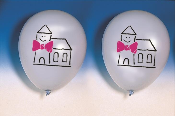 "Luftballons ""Fröhliche Kirche"" 100er"