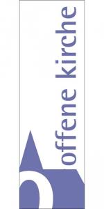 "Banner ""Offene Kirche"""