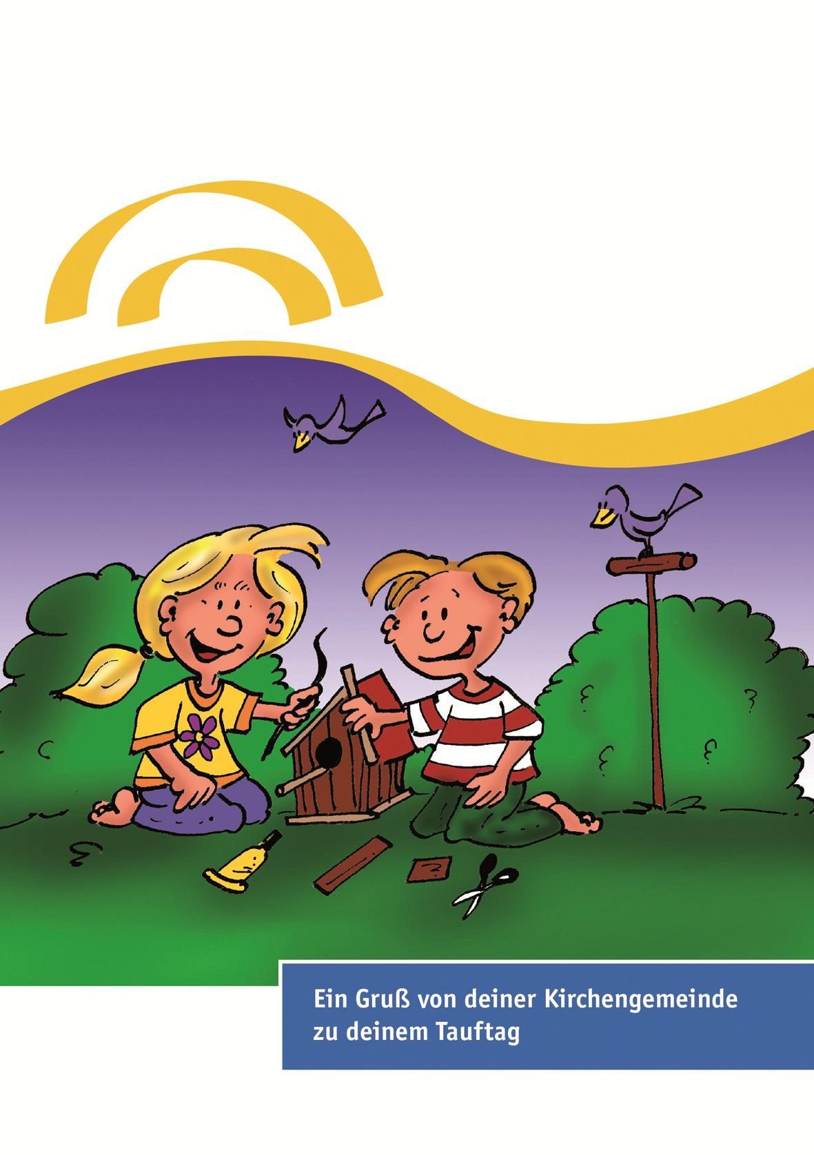 Neutrale Karten zum Tauftag für 6- bis 7-jährige