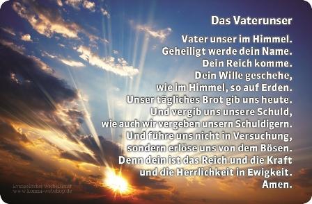 Kunststoffkarte Vater Unser und Glaubensbekenntnis