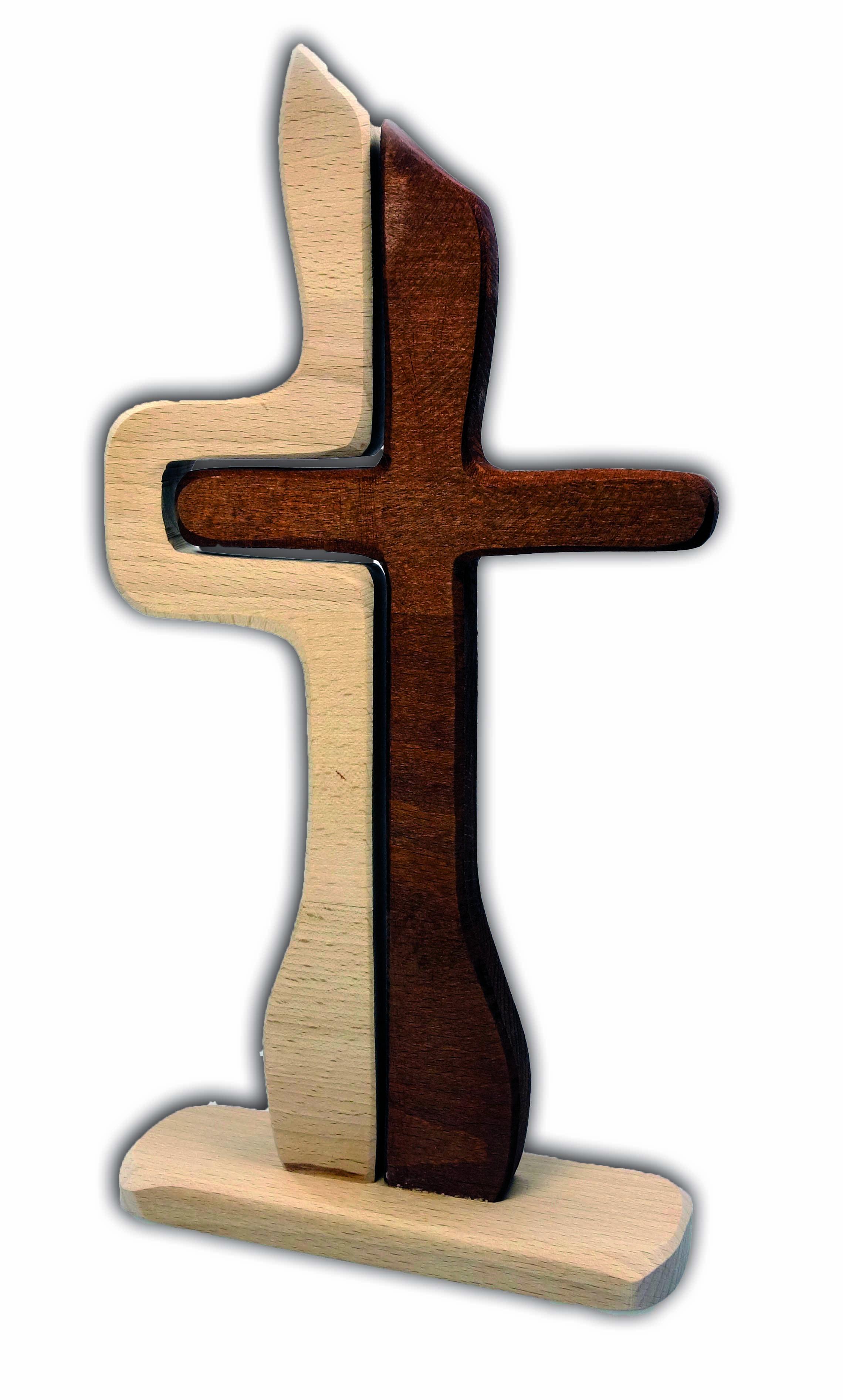 Symbolkreuz zweigeteilt