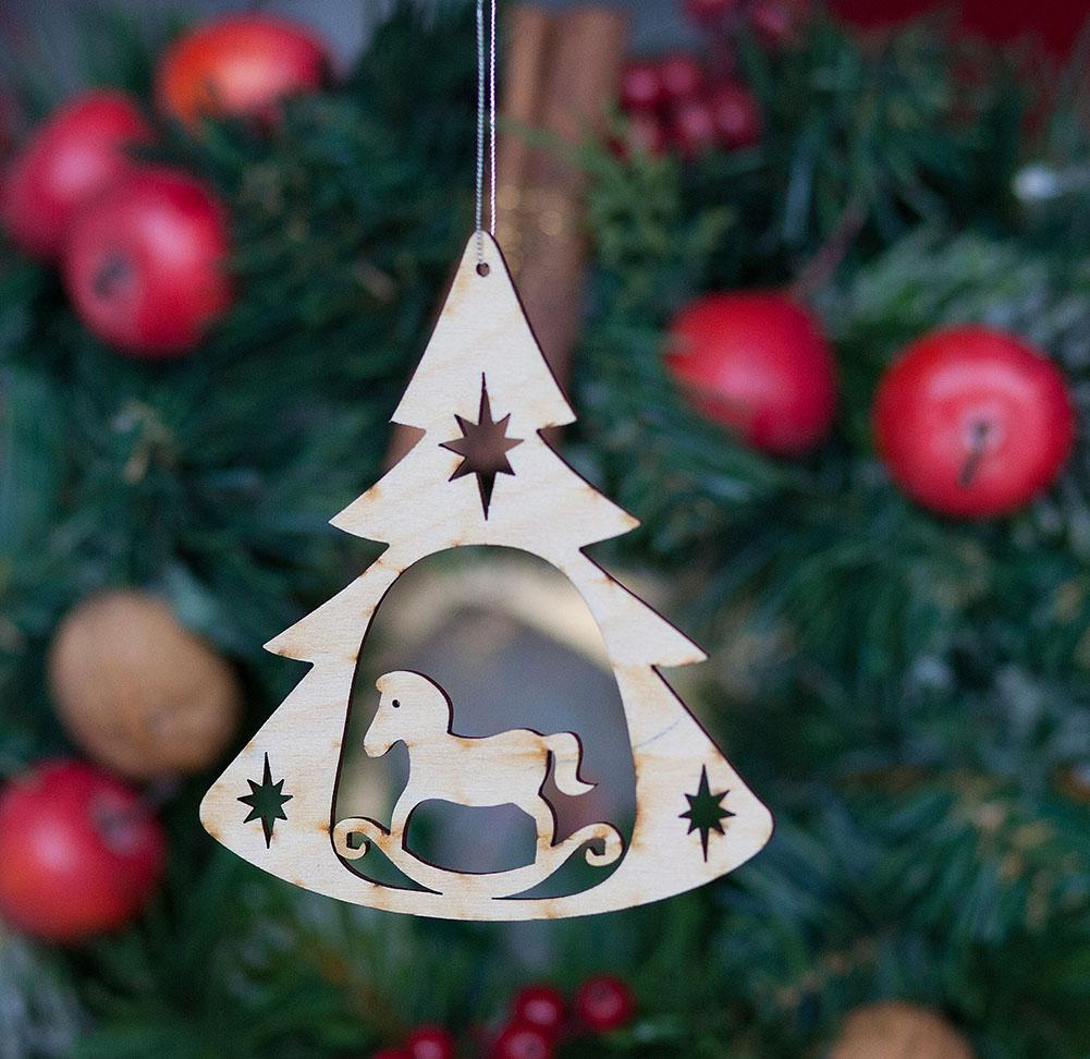 Weihnachtsbaumanhänger Schaukelpferd