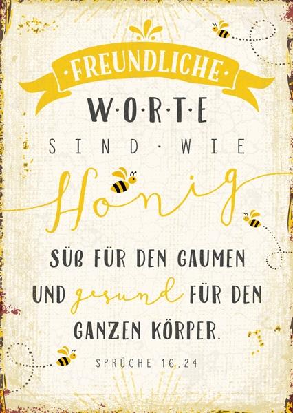 Postkarte - Honig