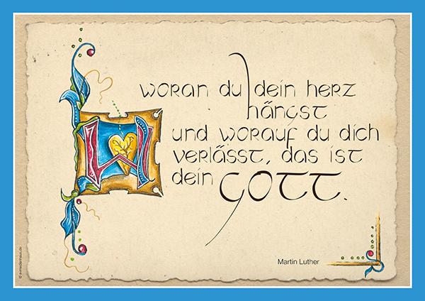 Poster Lutherzitate – Dein Gott