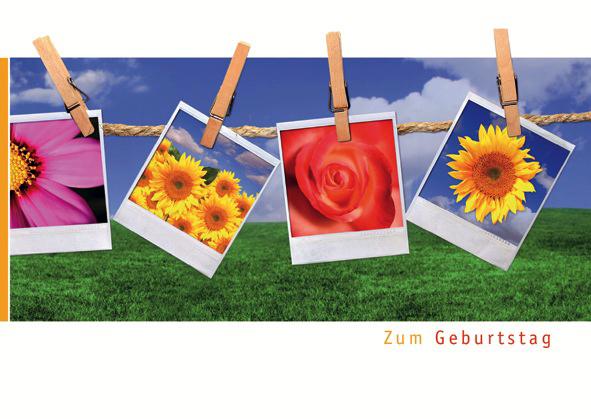 Postkarte Augenblicke der Besinnung – Geburtstag Wäscheleine
