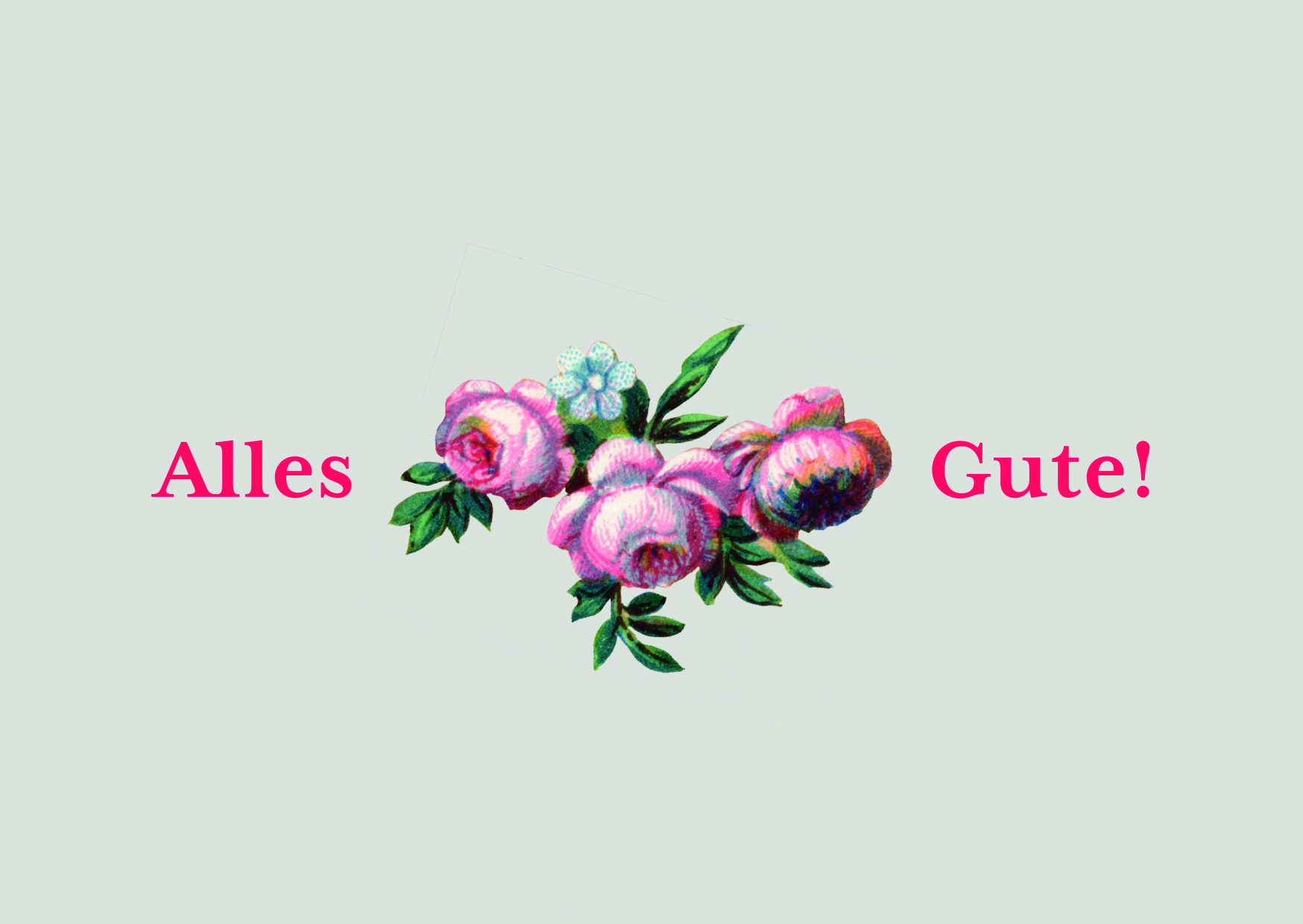 Augenblicke der Besinnung - Grußkarte Blumen