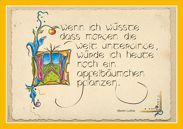 Poster Lutherzitate – Apfelbäumchen