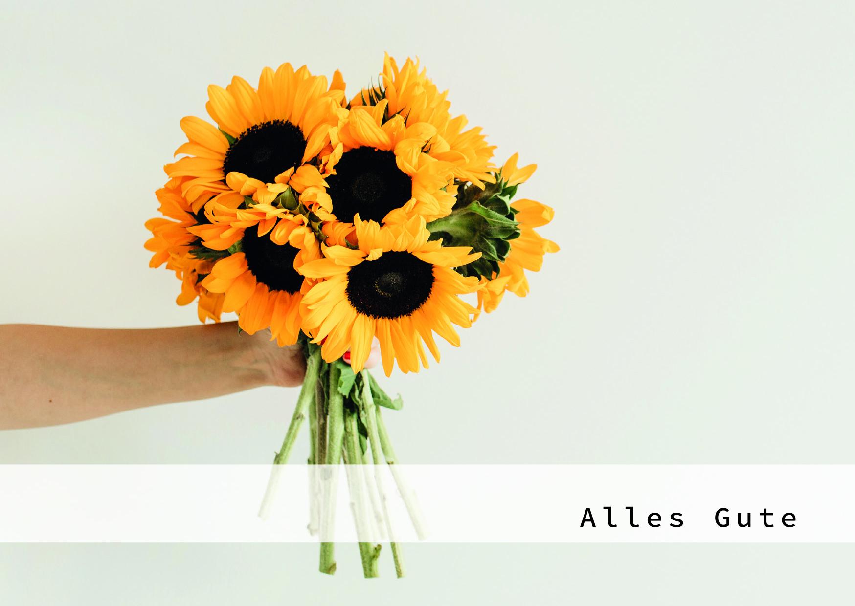 Augenblicke der Besinnung - Grußkarte Blumenstrauß