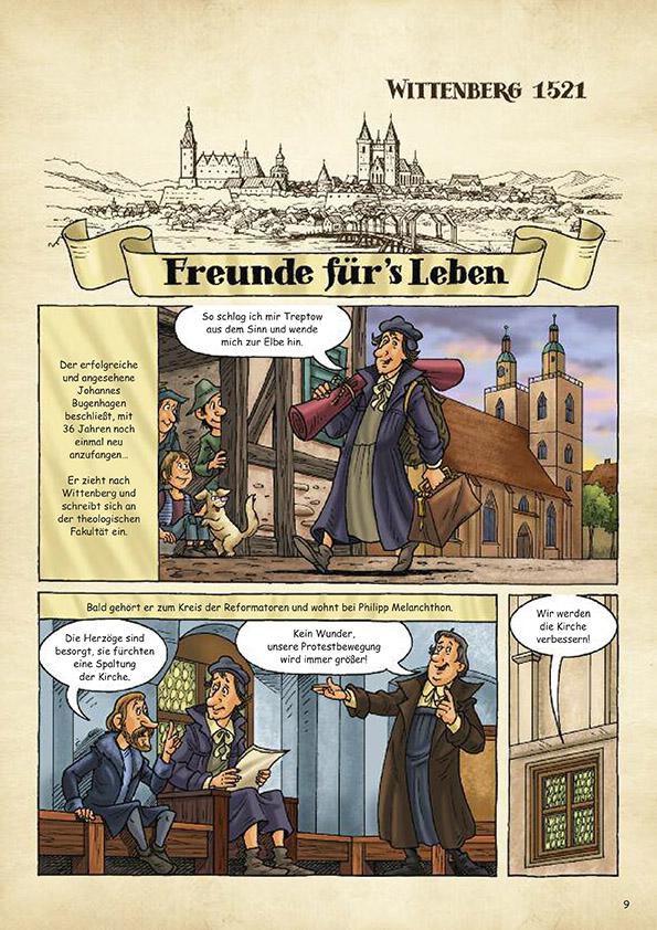 """Comic """"Johannes Bugenhagen - Die Reformation im Norden"""""""