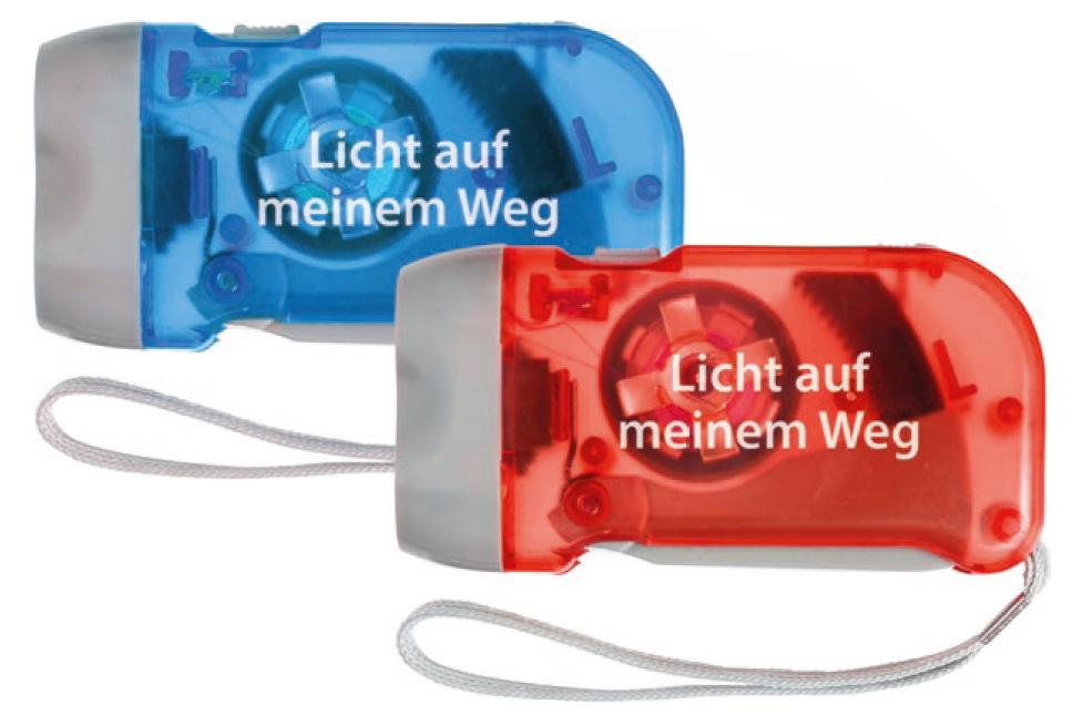 Dynamo Taschenlampe rot