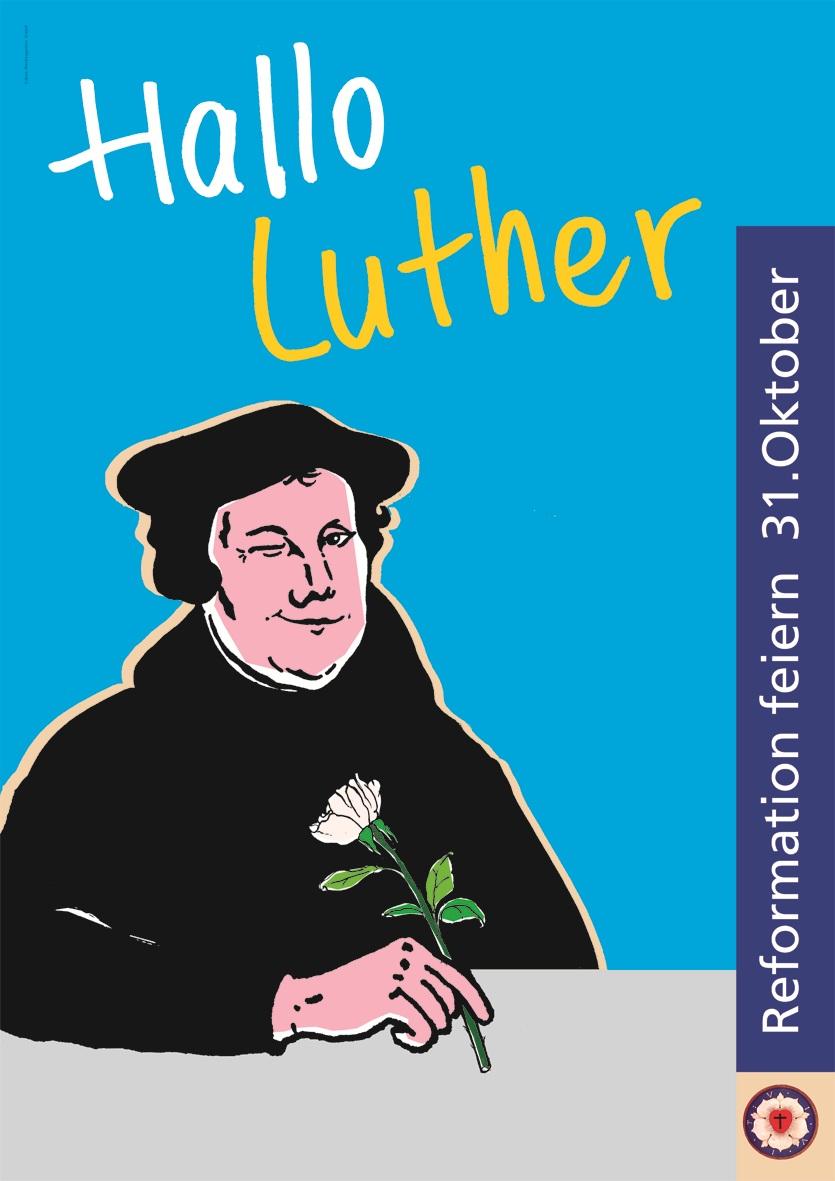 """Plakat """"Hallo Luther"""""""