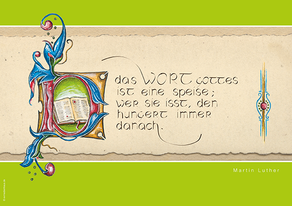 Poster Lutherzitate – Wort Gottes